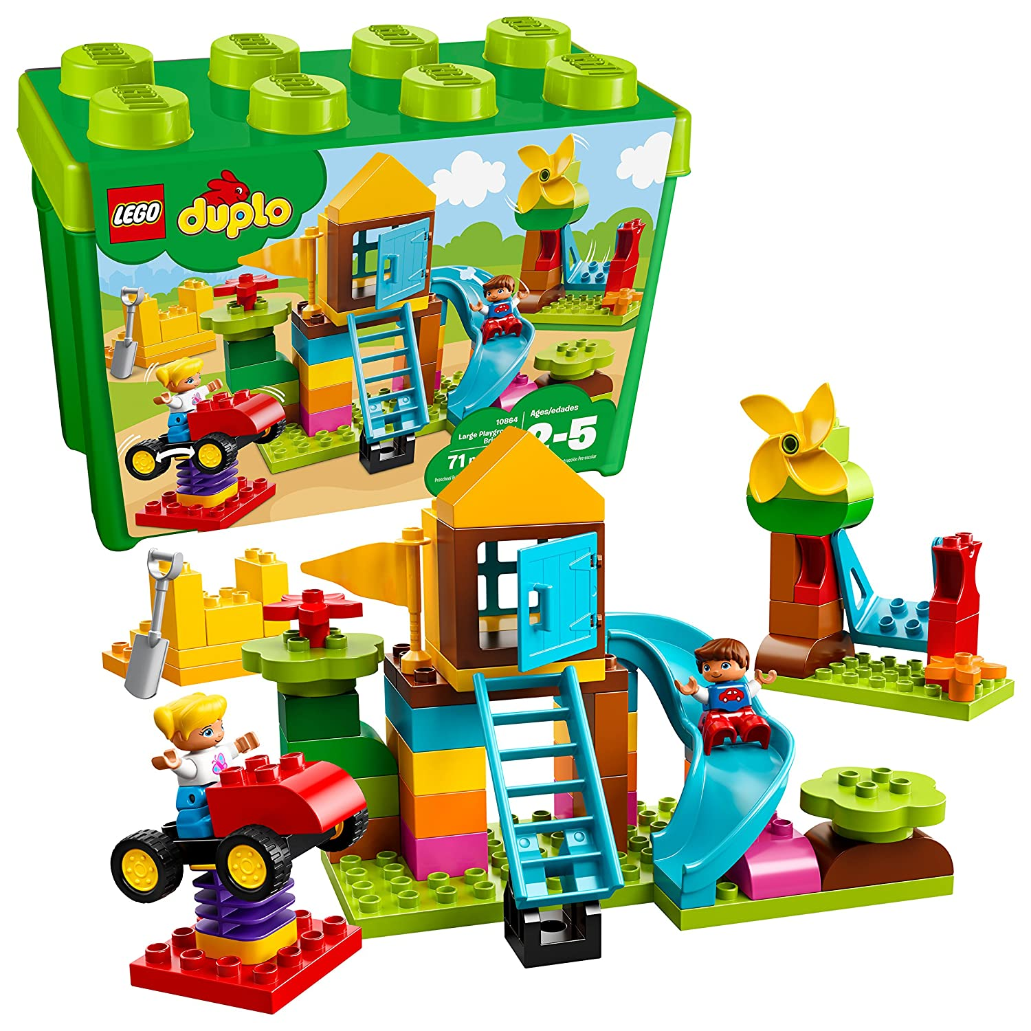 Lego Duplo Large Playground Brick Box 10864 Building Block (71 Piece) by Lego