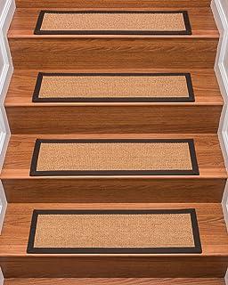 NaturalAreaRugs Chandler Sisal Carpet Stair Treads, 100% Natural Sisal,  9 Inch X