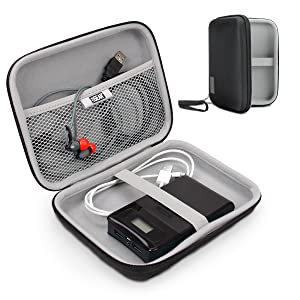 """USA Gear Hard Shell Electronic Organizer Travel Case 7.5"""" Inch with Weather-Resistant Exterior and Large Mesh Accessory Pocket - Compatible with Garmin GPS, Chargers, Hard Drives and More Electronics"""