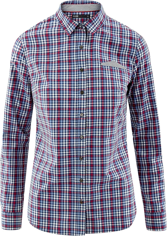 oodji Ultra Mujer Camisa Entallada de Algodón: Amazon.es: Ropa y ...