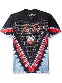 Liquid Blue Mens Pink Floyd The Wall Hammer V Tie Dye Short Sleeve T-Shirt T-Shirt