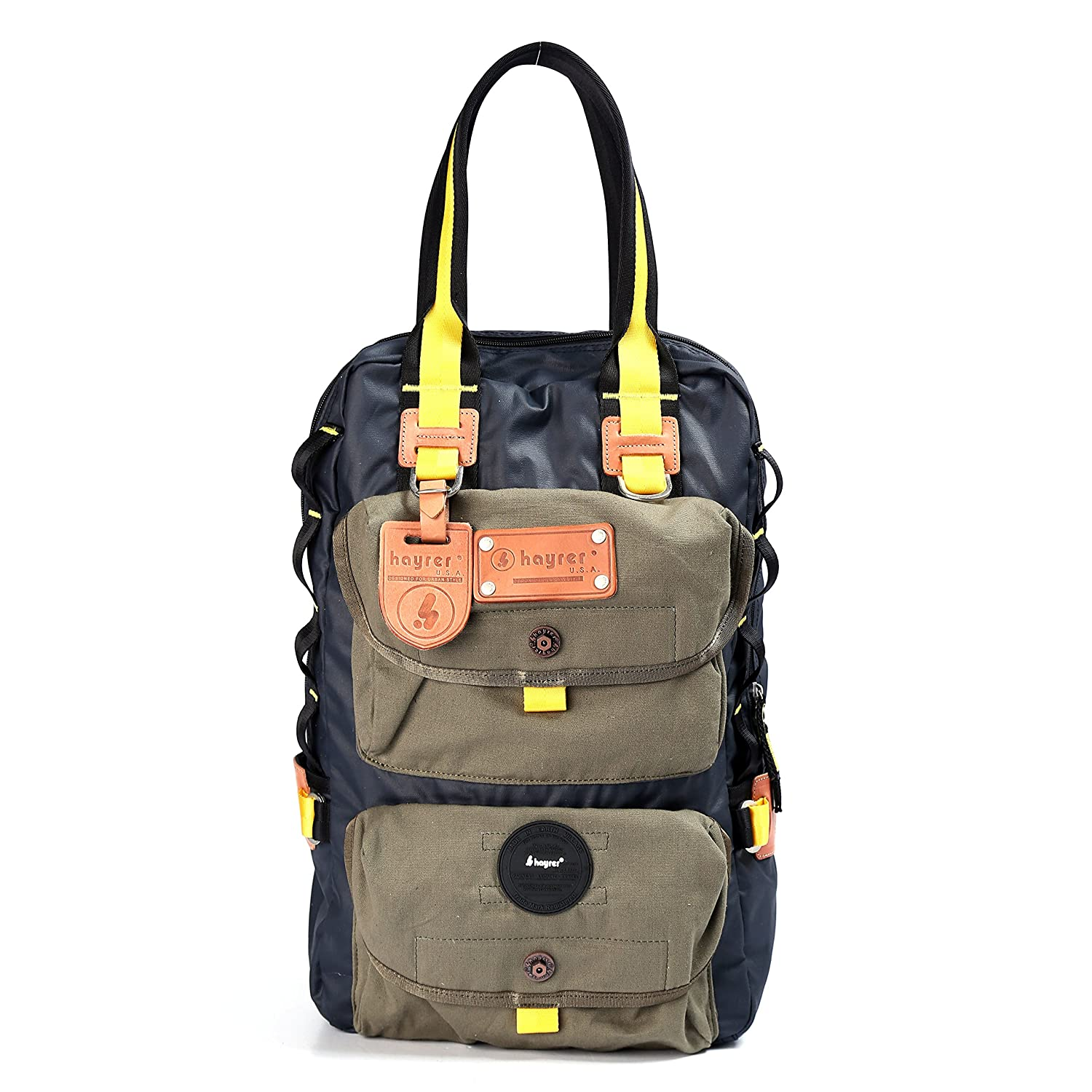 Hayrer Canvas Travel Hiking Dual-use Backpack Daypack 66338