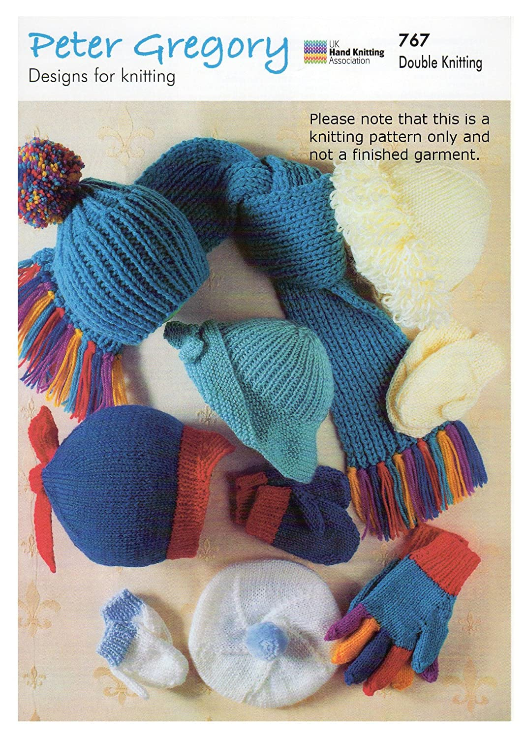 Double Knitting Pattern for Childrens Hats Gloves Mittens Scarf ...