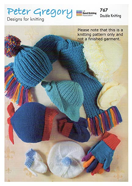Double Knitting Pattern For Childrens Hats Gloves Mittens Scarf
