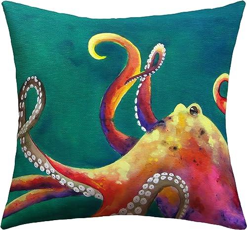 Deny Designs Clara Nilles Mardi Gras Octopus Outdoor Throw Pillow