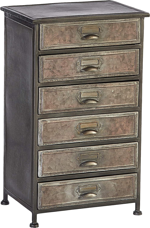 Hekman Furniture 6 Drawer Metal Chest