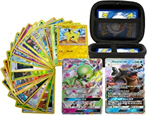 2 Pokemon GX Cards and 18 Holos Power Pack Plus Poshinzo Card Carrying Case