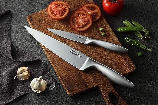 Super Sharp! Juego de cuchillos para cuchillos de cocina de acero inoxidable de 14 pulgadas - 8