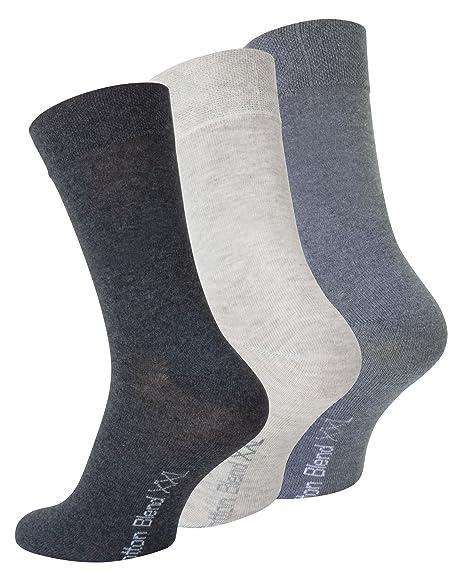 9 Paar Herren-Socken schwarz mit Elasthan Gr 47-50 Übergröße Top