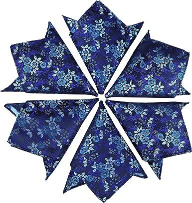 IvyFlair Mens Cotton Paisley Floral 11 Pocket Square Wedding Handkerchief