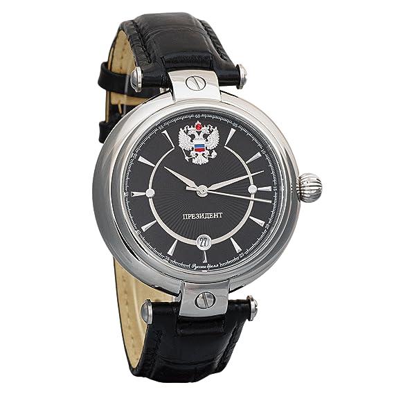 Poljot Presidente para hombre ruso lujo clásico mecánico automático bobinado Reloj chapado en oro de edición