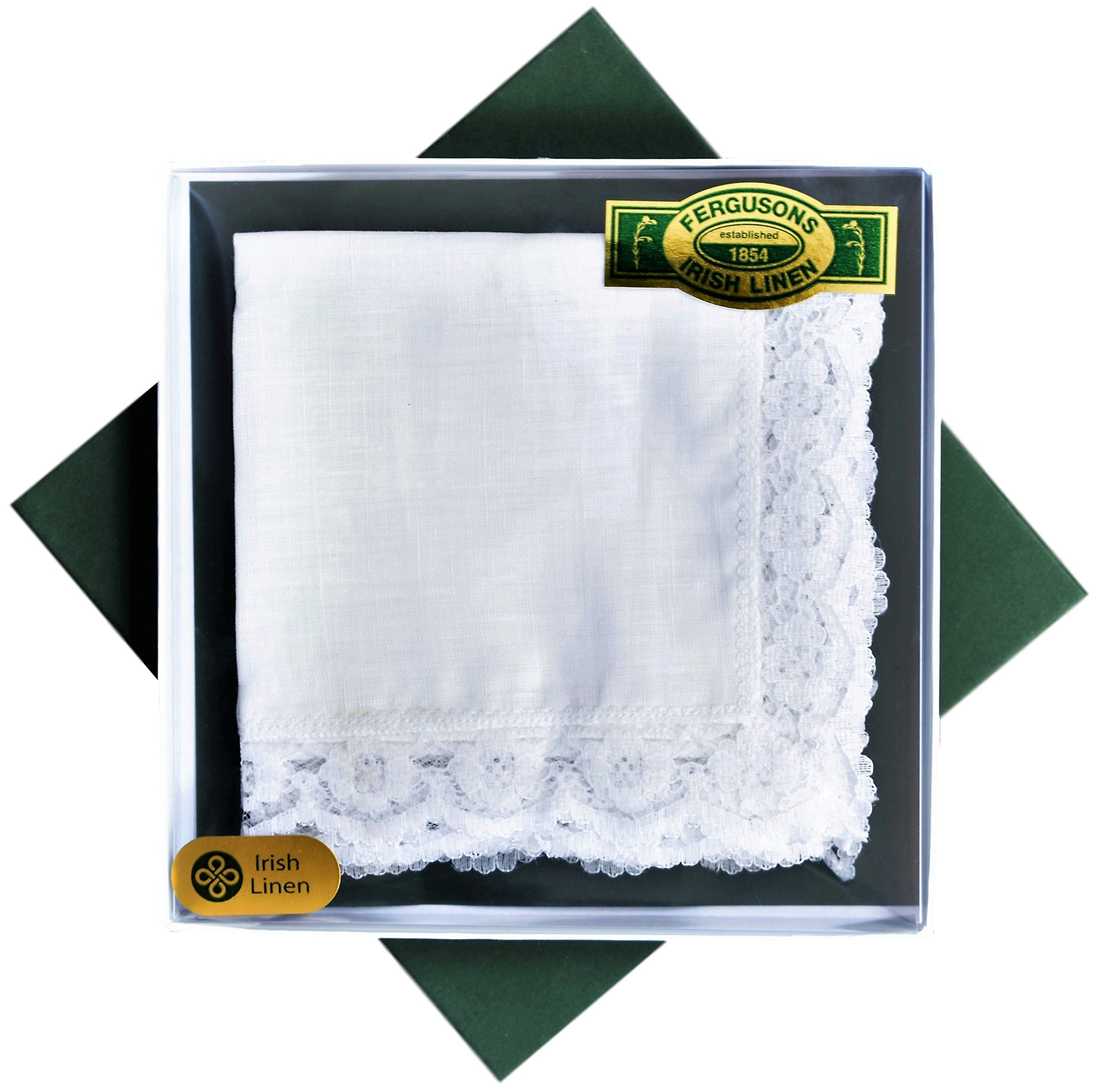 Thomas Ferguson - Ladies White Irish Linen Handkerchief - Pack of 3 In Gift Box by Thomas Ferguson Irish Linen (Image #2)