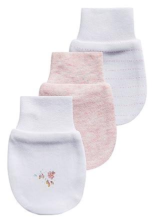 Next Lot De Trois Paires De Moufles Anti-Griffures Bébé Fille Rose Taille  unique d0924b77a2c