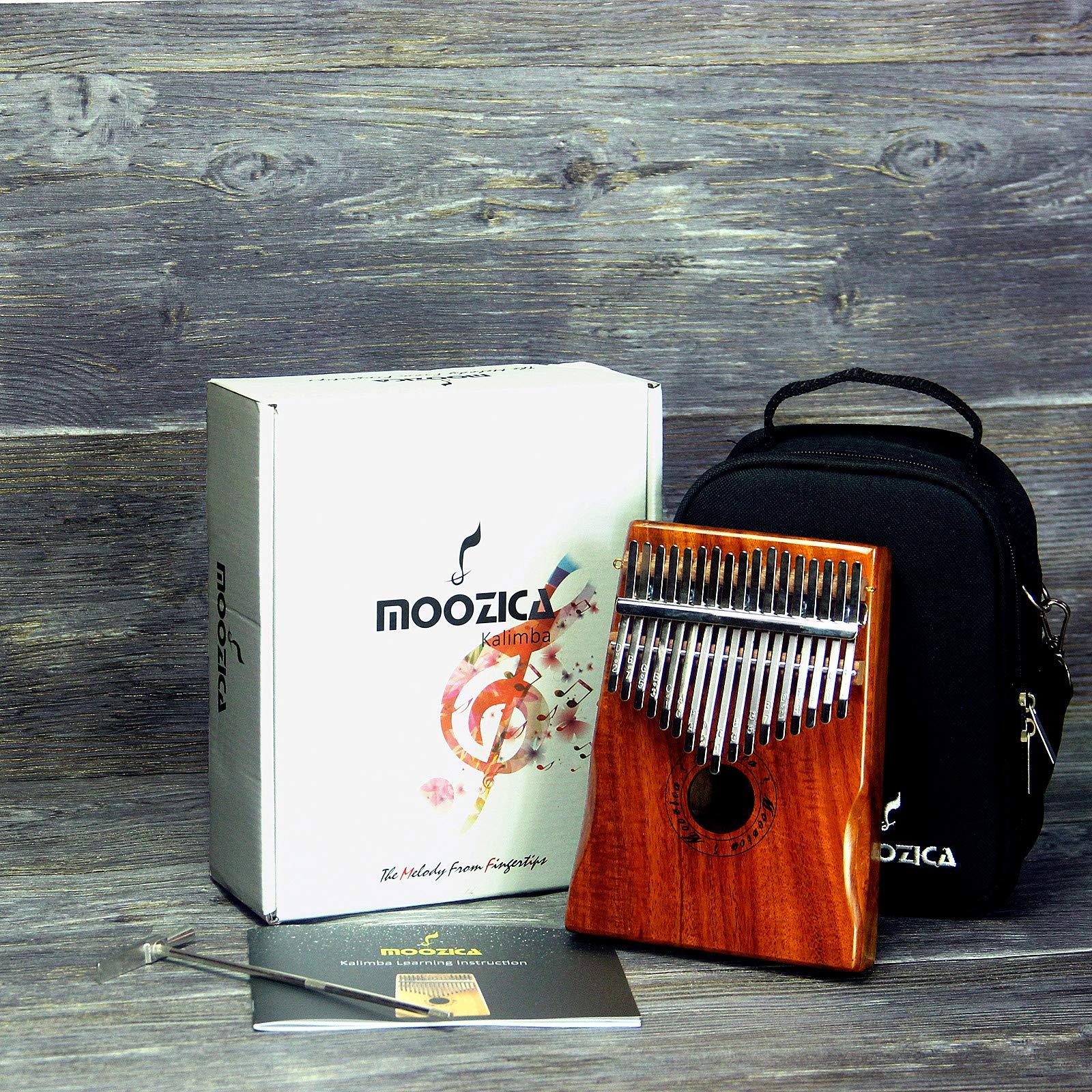 Moozica 17 Keys Kalimba Marimba, Professional Thumb Piano Sanza Mbira Musical Instrument Gift (Koa - K17K) by Moozica (Image #6)