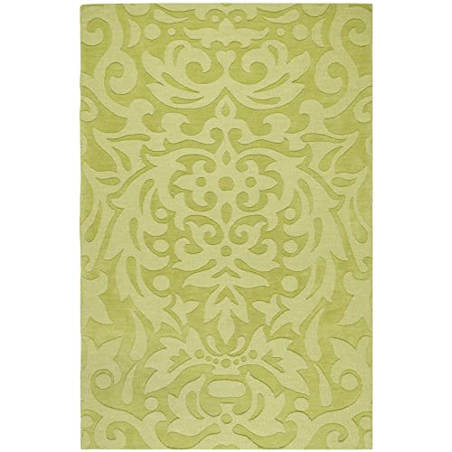 Surya M-317 Mystique Area Rug, 5-Feet by 8-Feet, Lime Green