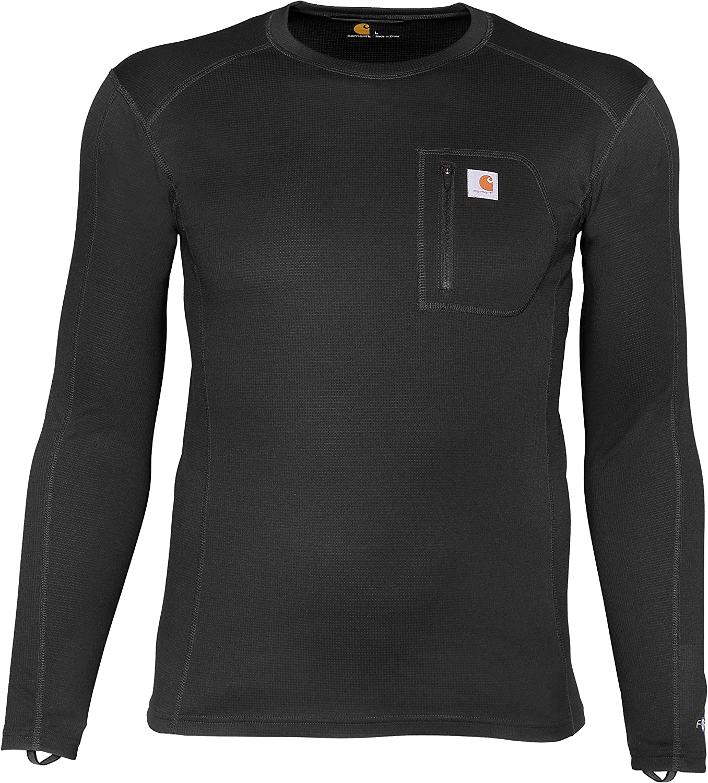Carhartt Base Layer Men's Force Midweight Tech Thermal Base Layer Long Sleeve Shirt