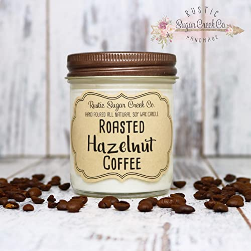 Amazon Com Roasted Hazelnut Coffee Scented Candle Coffee Candle Coffee Lovers Gift Christmas Gift Gift For Mom Coffee Gifts Personalized Candle Handmade