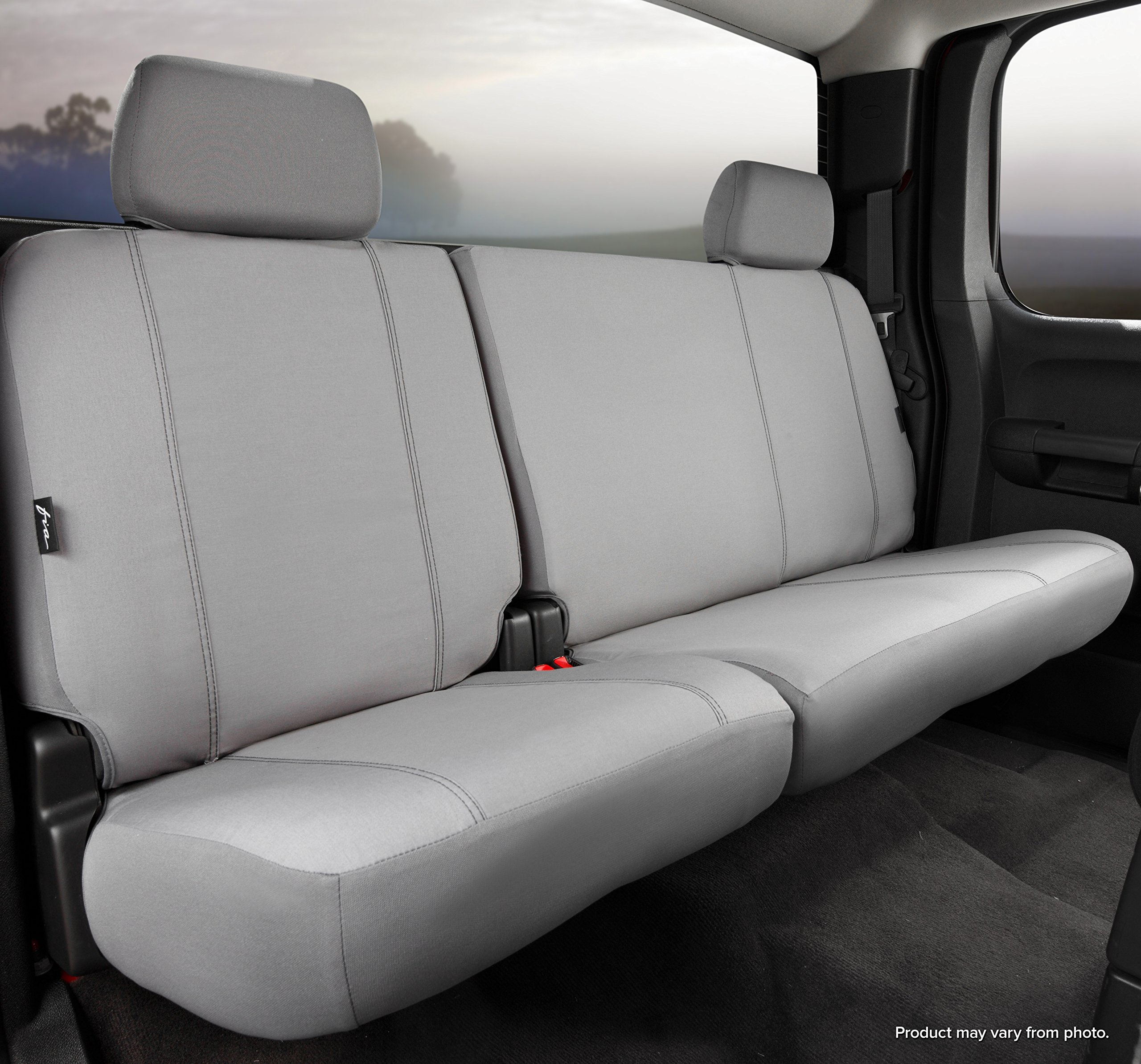 Fia SP82-38 GRAY Custom Fit Rear Seat Cover Split Seat 60/40 - Poly-Cotton, (Gray)
