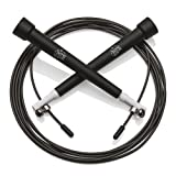 Skipping Rope – BEST Speed Jump Rope for Fitness Workouts Fat Burning Exercises and Boxing - MONEY BACK GUARANTEE - Skip Double Dutch at the Gym CrossFit Pilates - Feel the Benefits of Skipping With a 10 Minute Work Out – Fully Adjustable for Adults Weighted to Suit Kids