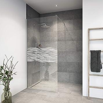 Mampara de ducha de vidrio templado con decoración LaserVision_010 ...