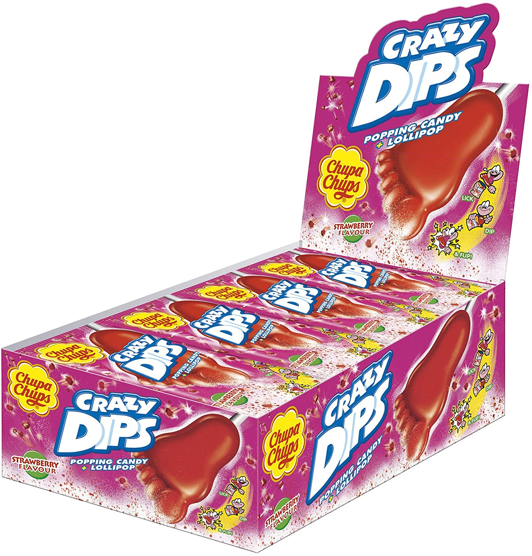 Chupa Chups Crazy Dips   Erdbeer-Lollis mit Brausepulver und ...