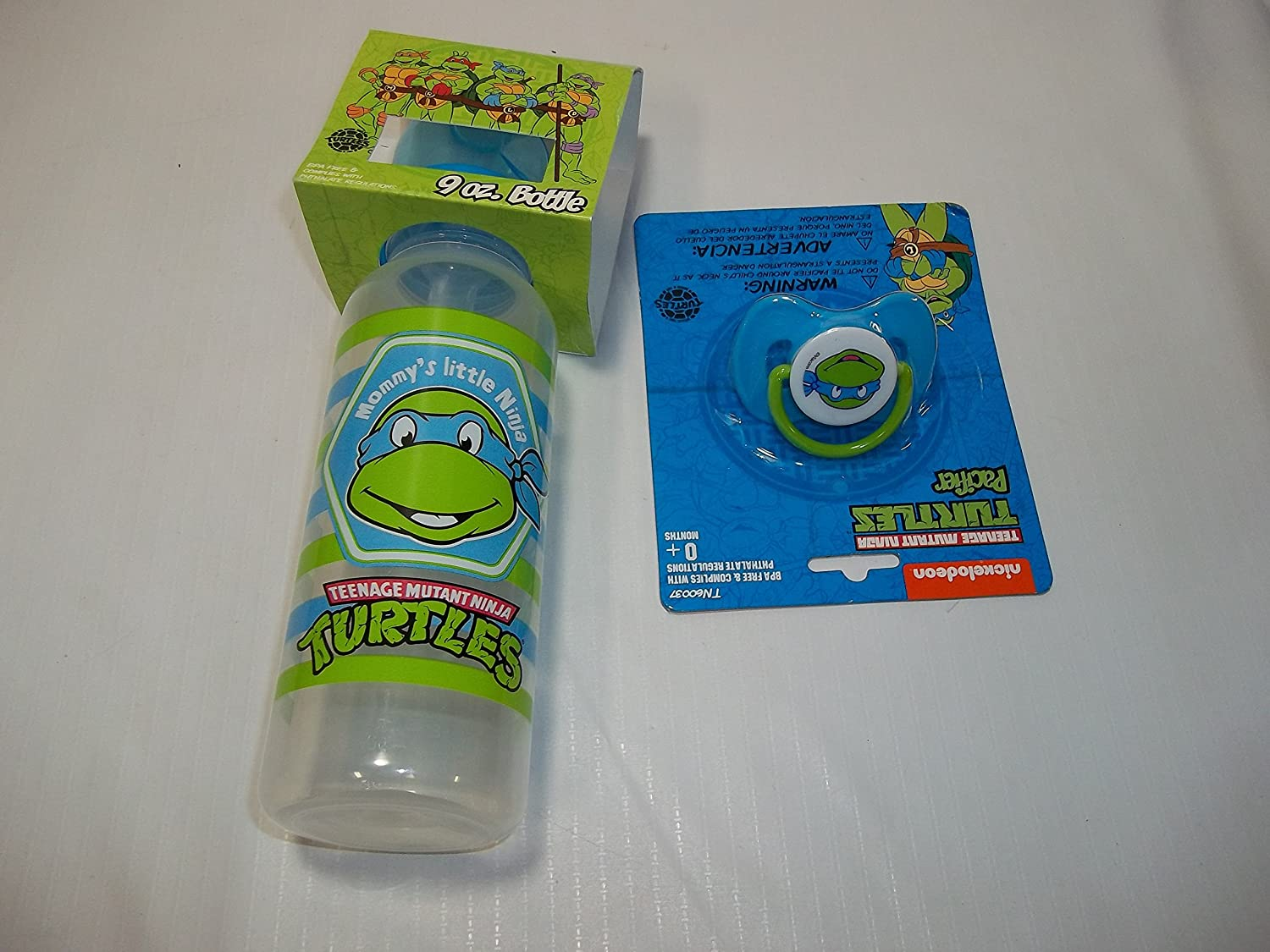 Amazon.com : Teenage Mutant ninja turtles 9 oz bottle & pacifier set ...