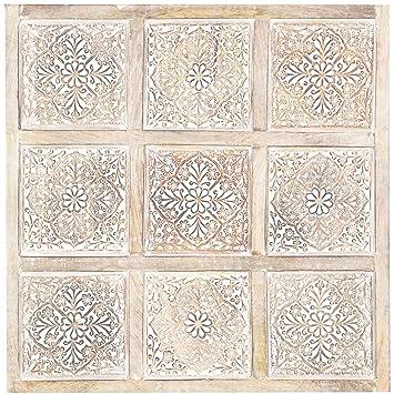 Orientalische Holz Ornament Wanddeko Anida Weiss 60cm gross ...