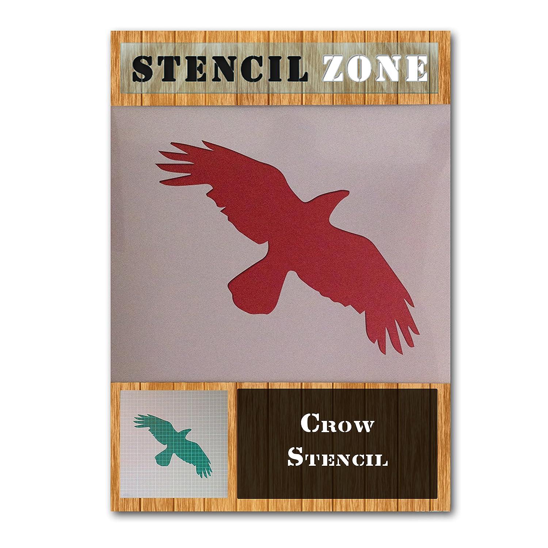 Crow Bird Flying Animal Mylar Airbrush Painting Wall Art Stencil (A1 Size Stencil - Xlarge) STENCIL ZONE