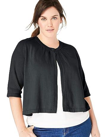 89575d02adb Woman Within Women's Plus Size Single Button Shrug Cardigan