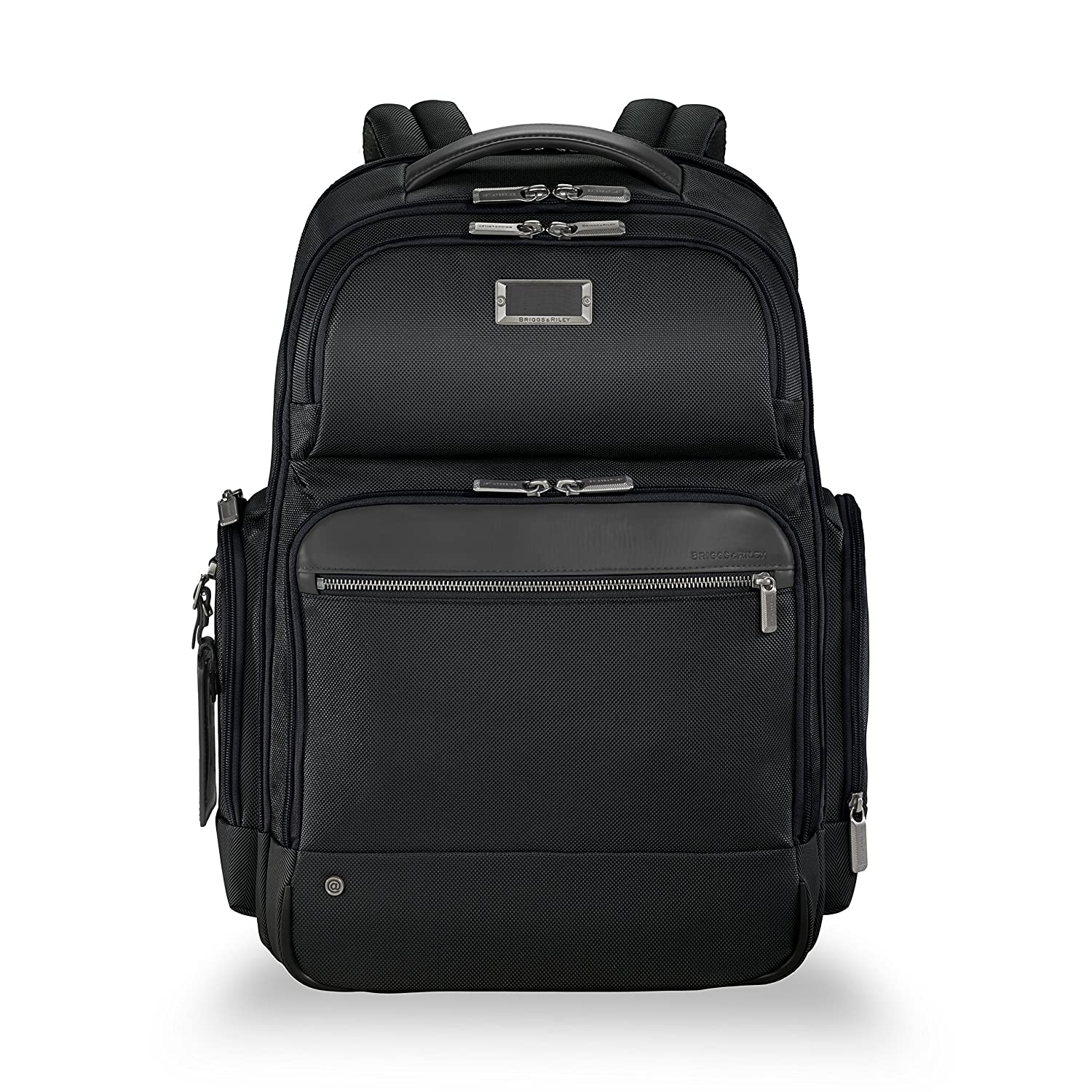 Briggs Riley Work Large Laptop Backpack for women and men. Fits up to 17 inch laptop. Business Travel Laptop Backpack with RFID Blocking Pocket, Black