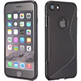 Apple iPhone 5 / 5S Black Tpu Jelly Rubber Gel Skin Case Cover Plus Screen Protector & Cleaning Cloth