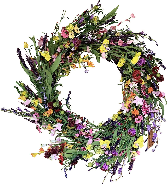 Cottage Wreath Wedding Wreath Summer Wreath Everyday Wreath Wreath Tulip Wreath Funeral Wreath Purple Wreath Spring Door Wreath