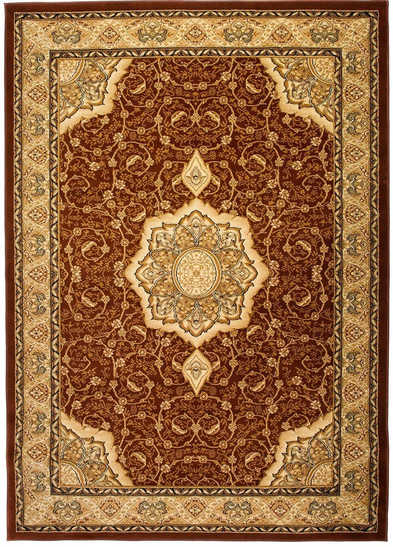Carpeto Teppich Orientteppich Braun 300 x 400 cm Medaillon Konturenschnitt Muster Iskander Kollektion