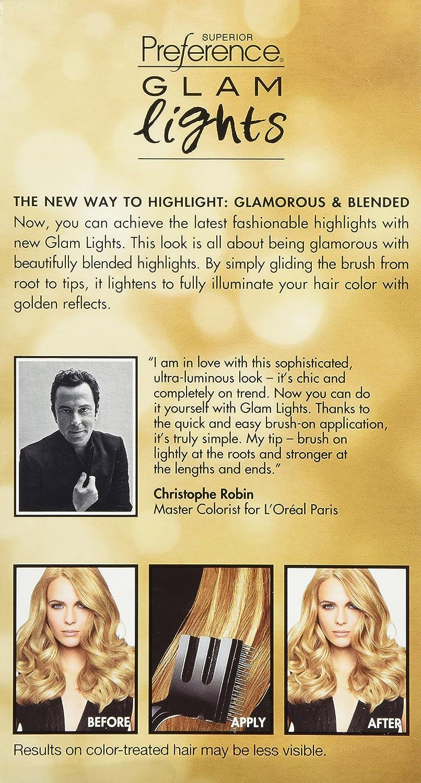 Loreal paris superior preference glam lights brush on glam loreal paris superior preference glam lights brush on glam highlights gl90 light blonde to medium blonde by loreal paris amazon salud solutioingenieria Images