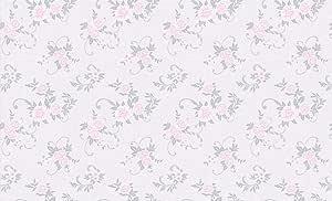 ورق حائط مزين بالورود ذات اللون الوردي مقاس 15 5&1 06متر موديل 55562