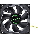 Anima AF8 - Ventilador para ordenador (1800 rpm, 0.12 A, 1.44 W, ecológico y silencioso, 50.000 horas de funcionamiento, 8 cm, 7 aspas) color negro