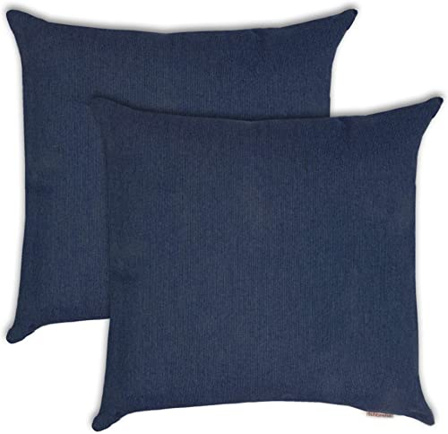 Olivia Quido Sunbrella Spectrum 20-inch Outdoor Pillow 2-Pack Indigo