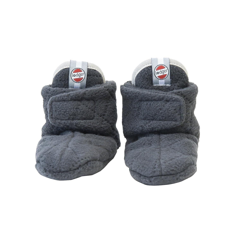 Lodger Booties Slipper Fleece (3-6 m, Scandinavian Coal) SLFLTH6001577M