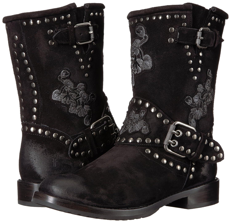 FRYE Women's NAT Flower Engineer Boot B06XQSWVH9 7.5 B(M) US|Black