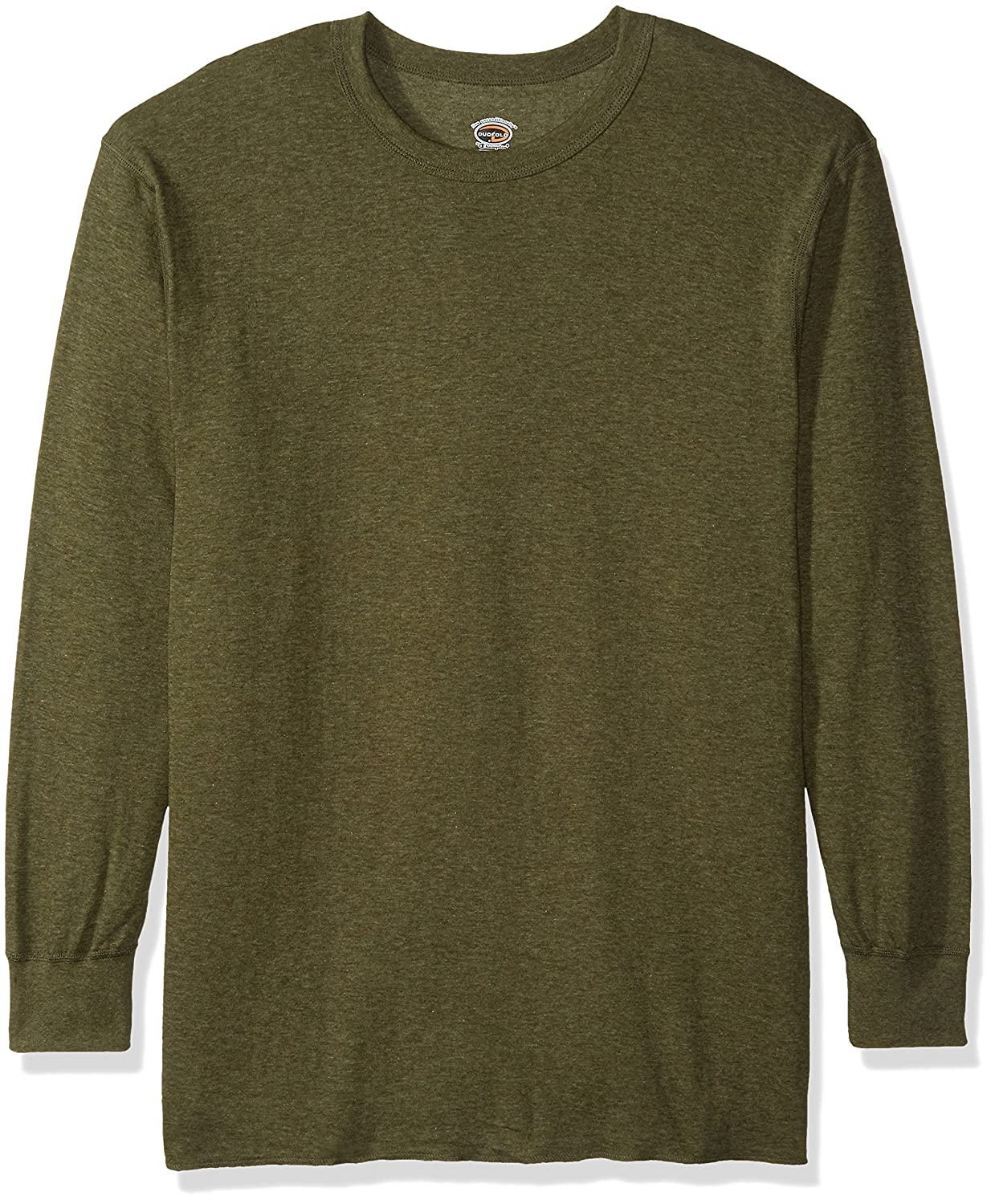 Duofold Men's Mid-Weight Crew Thermal Shirt Neck Thermal Shirt Sleepwear Olive Heather 2X Large KMO1