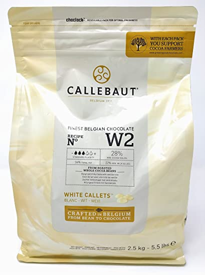 Callebaut N° W2 (28%) - Chocolate Blanco Belga - Finest Belgian White