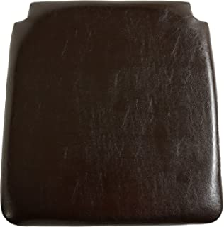 Attirant Seconique Faux Leather Seat Pad (Pair)   Brown Faux Leather