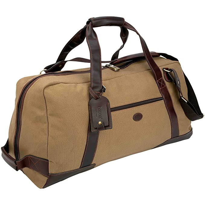fc3705805e27 Baron Country Large Canvas   Leather Duffel Bag  Amazon.ca  Clothing    Accessories