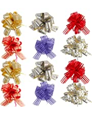 "Allgala 12-pc 6"" Large Everyday Pull Bows, Assorted"