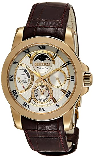 Seiko reloj hombre Premier Kinetic Direct Drive SRX014P1