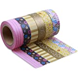 LolliZ Washi Tape - Retro Chic Set with Six Rolls / Assorted Patterns