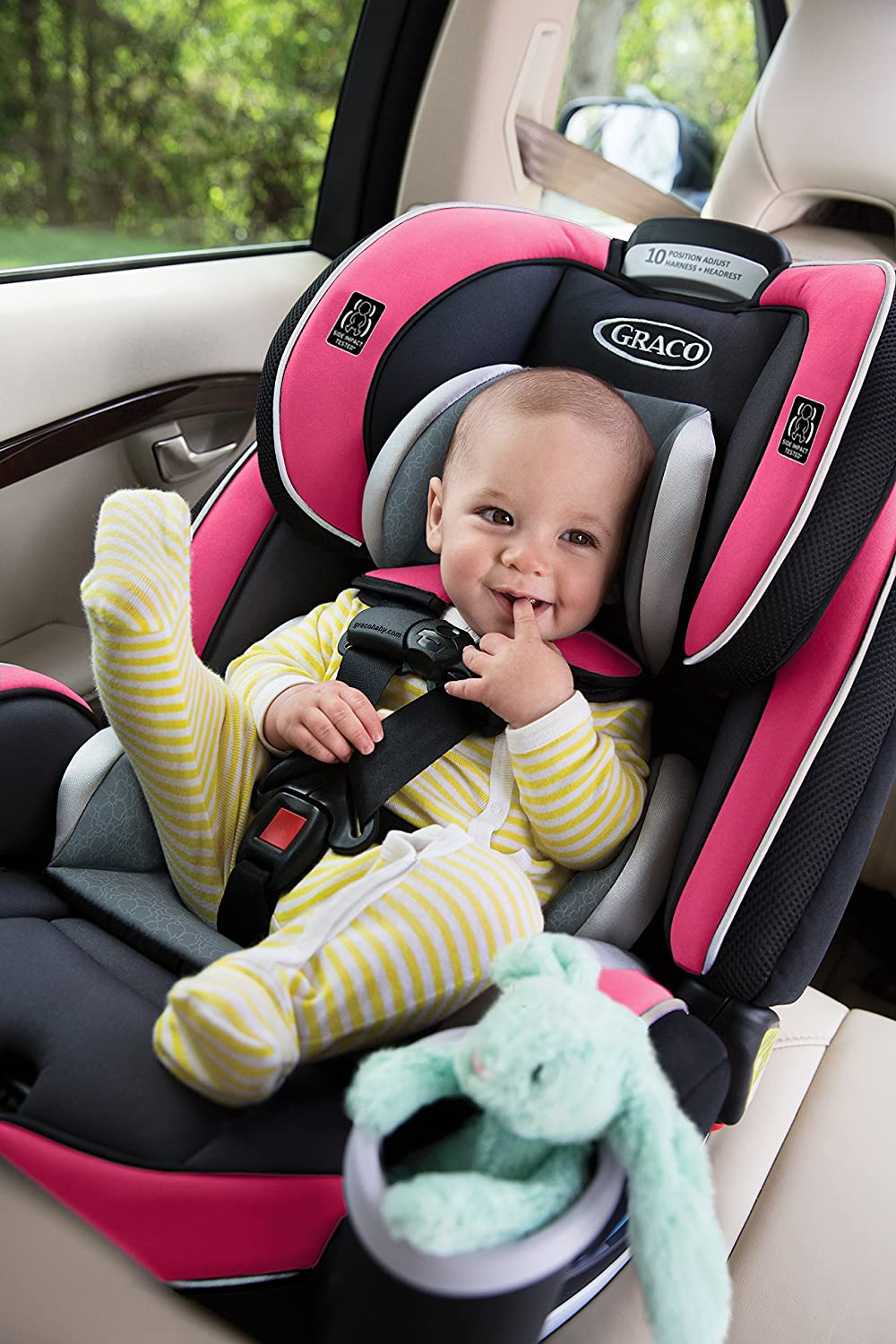 Amazon.com   Graco 4Ever 4-in-1 Convertible Car Seat, Azalea   Baby af53dbc320d