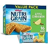 Kellogg's Nutri-Grain Soft Baked Apple Cinnamon Breakfast Bars - School Lunchbox Snacks, Individual Wrapped Bars, 16 Count (Pack of 3)