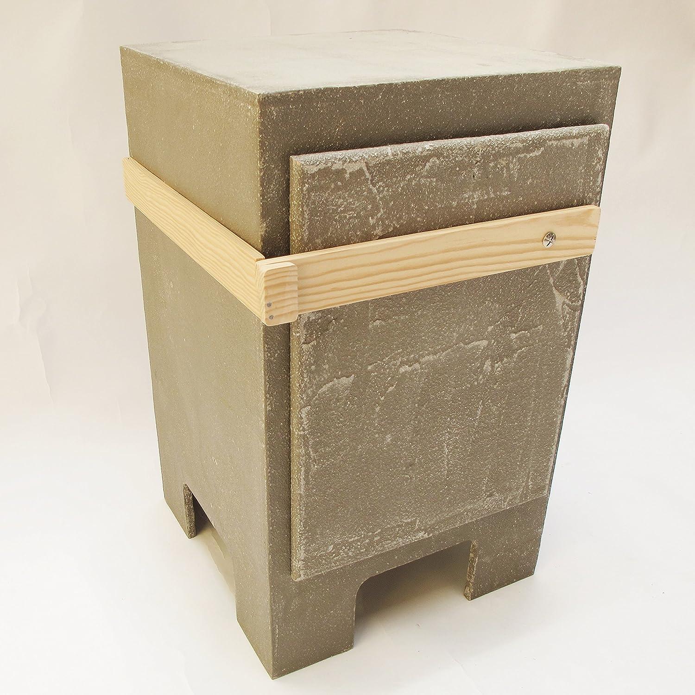 Mesilla de noche diseño industrial. Mesita auxiliar cemento. Mesita de noche