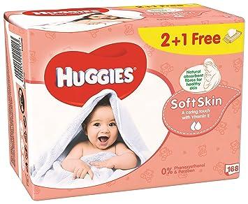 Huggies Soft Skin Toallitas para Bebé - 3 Paquetes: Amazon.es: Amazon Pantry